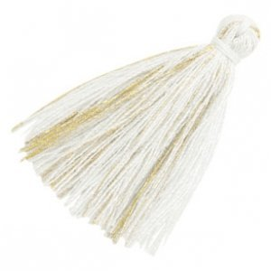 Wit Kwastje basic goldline White 30mm