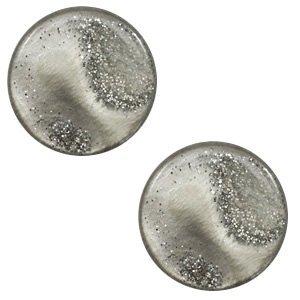 Grijs Cabochon polaris stardust Warm grey 12mm