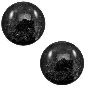 Zwart Polaris cabochon Lively Black 7mm