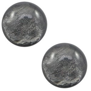 Grijs Polaris cabochon Lively Dark grey 7mm