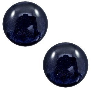 Blauw Polaris cabochon Lively Intense dark blue 7mm
