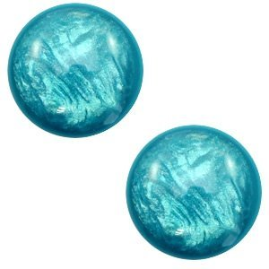 Turquoise Polaris cabochon Lively Persian green 7mm