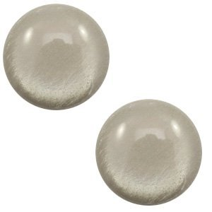 Grijs Polaris cabochon soft tone shiny Warm grey 7mm