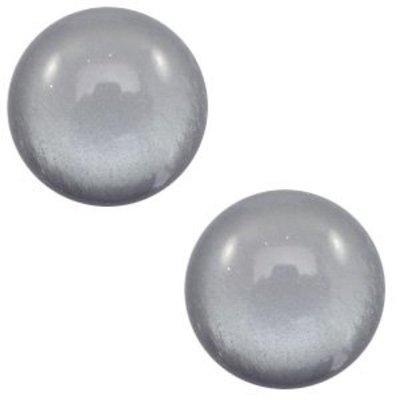 Grijs Polaris cabochon soft tone shiny Gallant grey 7mm