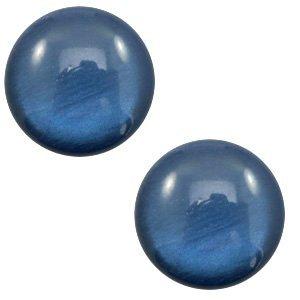 Blauw Polaris cabochon soft tone shiny Dark blue 7mm