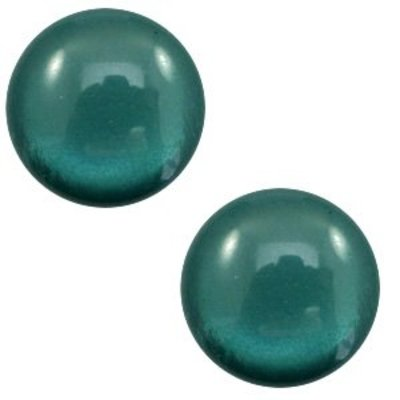 Groen Polaris cabochon soft tone shiny Deep teal blue 7mm