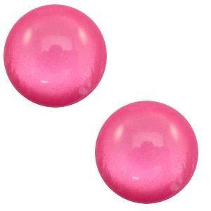 Roze Polaris cabochon soft tone shiny Magenta pink 7mm