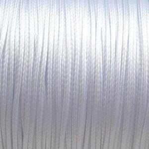 Wit Waxkoord shiny wit 1mm - 8 meter
