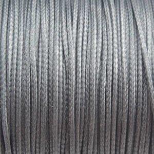 Grijs Waxkoord shiny grey 1mm - 8 meter