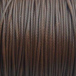 Bruin Waxkoord shiny bruin 1mm - 8 meter