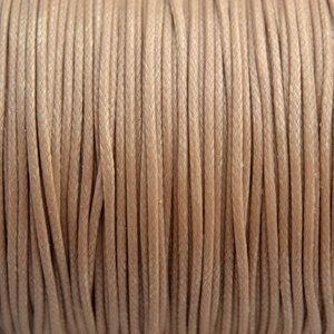 Bruin Waxkoord shiny beige bruin 1mm - 8 meter