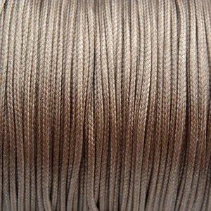 Bruin Waxkoord shiny beige taupe 1mm - 8 meter
