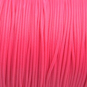 Roze Waxkoord shiny hot pink 1mm - 8 meter