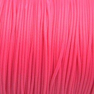 Roze Waxkoord shiny hot pink 1mm - 8 meter