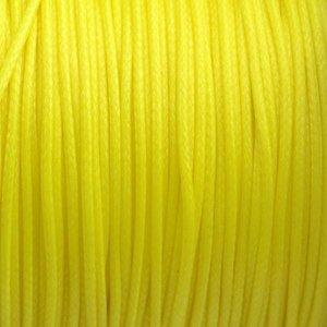 Geel Waxkoord shiny fel geel 1mm - 8 meter