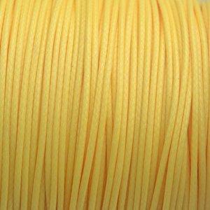 Geel Waxkoord shiny geel 1mm - 8 meter
