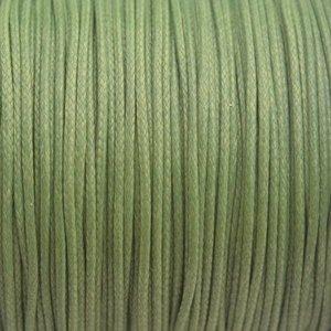 Groen Waxkoord shiny licht groen 1mm - 8 meter