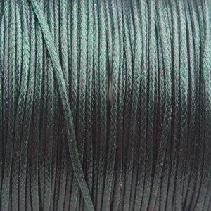 Groen Waxkoord shiny donker groen 1mm - 8 meter
