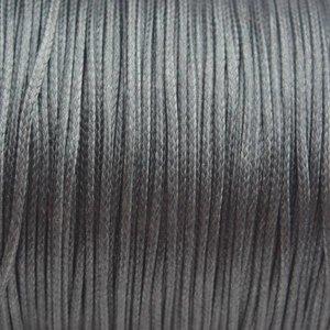 Groen Waxkoord shiny grijs groen 1mm - 8 meter