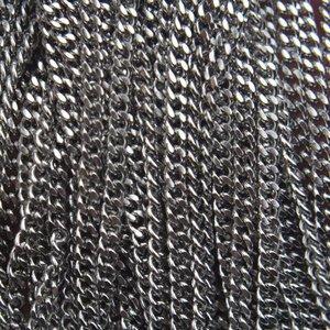 Rvs Platte RVS schakelketting 2,2x3mm - prijs per 10cm