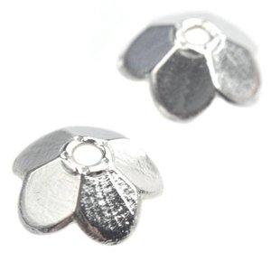 Zilver Kralenkapje Zilver 10x3mm - 9 stuks