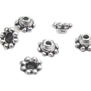 Zilver Kralenkapje Zilver 5x3mm - 8 stuks