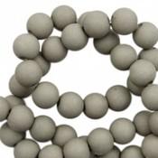 Grijs Acryl kralen mat Rock ridge grey 6mm - 50 stuks