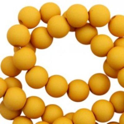 Geel Acryl kralen mat Scotch yellow 8mm - 50 stuks