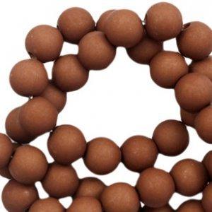 Bruin Acryl kralen mat Spectrum brown 6mm - 50 stuks