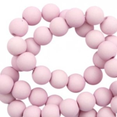 Roze Acryl kralen mat Lavender pink 8mm - 50 stuks