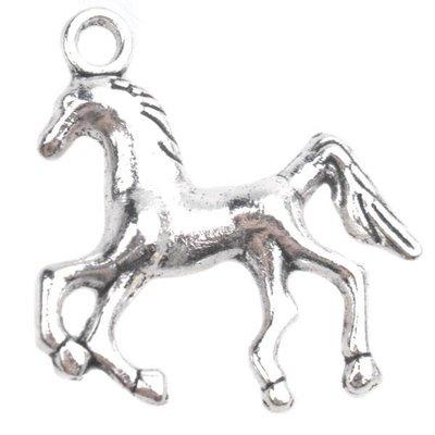 Zilver Bedel paard Zilver 24x21.5mm - 4 stuks