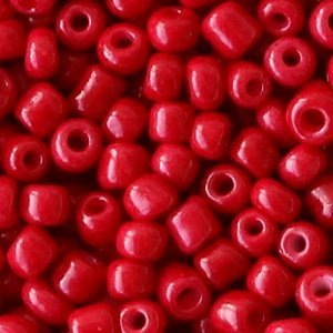 Rood Rocailles glas Warm red 6/0 (4mm) - 20 gram