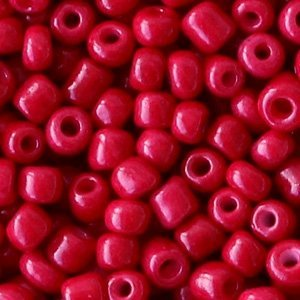 Rood Rocailles glas Rumba red 6/0 (4mm) - 20 gram