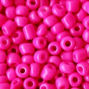 Roze Rocailles glas Fuchsia pink 6/0 (4mm) - 20 gram