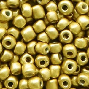 Bruin Rocailles glas Rich gold metallic 6/0 (4mm) - 20 gram
