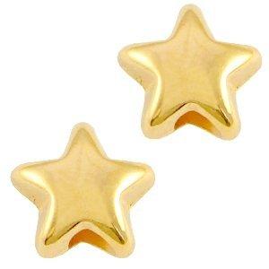 Goud Kraal sterretje Goud DQ 6x3,6mm