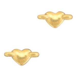Goud Tussenzetsel hartje Goud DQ 10.4x4.9mm