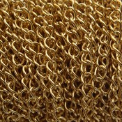 Rvs Verlengketting RVS goud 4x3mm - prijs per 10cm