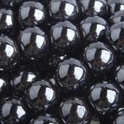 Grijs Edelsteen kraal Hematiet rond 6mm - 10 stuks