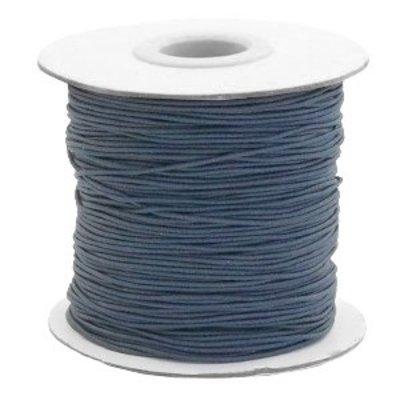 Grijs Gekleurd elastisch draad Anthracite grey 1mm - per 4 meter