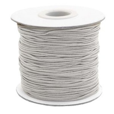 Grijs Gekleurd elastisch draad Light grey 1mm - per 4 meter
