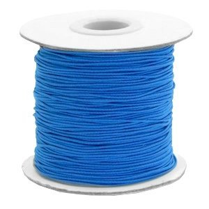 Blauw Gekleurd elastisch draad Princess blue 1mm - per 4 meter