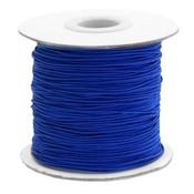 Blauw Gekleurd elastisch draad Cobalt blue 1mm - per 4 meter
