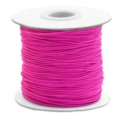 Roze Gekleurd elastisch draad Cherry pink 1mm - per 4 meter
