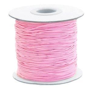 Roze Gekleurd elastisch draad Pink 1mm - per 4 meter