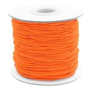 Oranje Gekleurd elastisch draad Fluor orange 1mm - per 4 meter