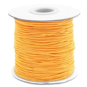 Oranje Gekleurd elastisch draad Sunflower orange 1mm - per 4 meter