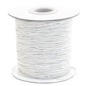 Wit Gekleurd elastisch draad Off white 1mm - per 4 meter