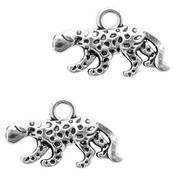 Zilver Bedel luipaard Zilver 11x18mm