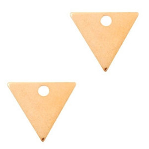 Rosegoud Bedel triangle Rosegoud DQ 14x12mm